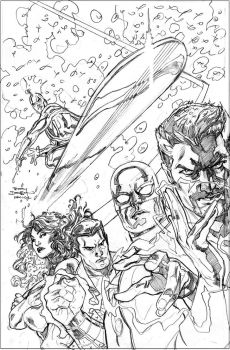 Defenders Preview Pencils by TerryDodson