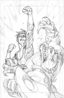Invincible 57 cover pencils by RyanOttley