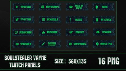 Soulstealer Vayne - Twitch Panels by lol0verlay
