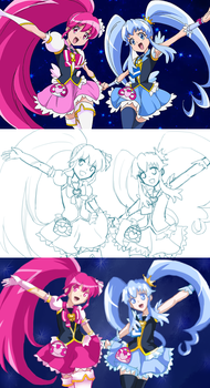 HappinessCharge Precure ( screencap redraw ) by Frogberri