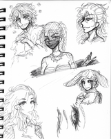 Just Some Random Freehand Sketches by RealitySu