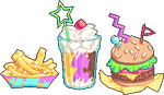 90s Fast Food by SugarySweetSprites
