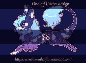 $8 One-off fluffy critter design - CLOSED by Crow-Faced