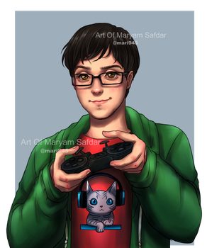 People's Portaits - Gamer by Mari945