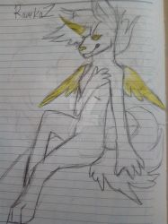 Drawing of my Furry OC by RomkaZ