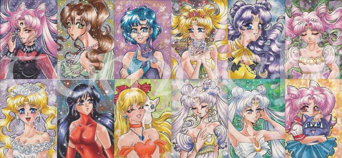 ACEOs - Sailor Moon Characters by Tomo-Chi