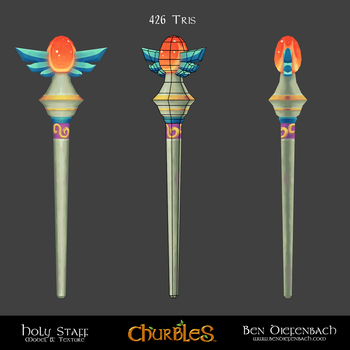 Churbles: Holy Staff by darkmag07