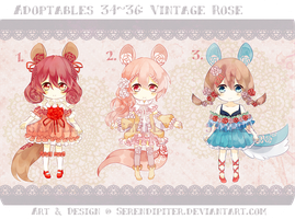 [CLOSED] Adoptables 34~36: Vintage Rose by Staccatos