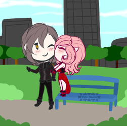 Chibi Couple u3u Dimitry x Linux by Yuly-Yanty
