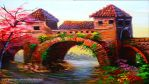 Old Bridge and Two Towers by beejay-artlife12
