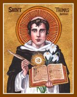 St. Thomas Aquinas icon by Theophilia