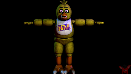 FNaF SFM: Accurate lighting but T pose (filler) by Mikol1987