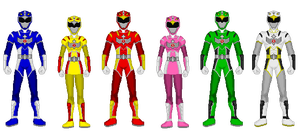 Comission - Power Rangers Wingranger by Kaiserf11
