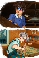 Victuuri~ Whispers of the Heart AU by TaffyDesu