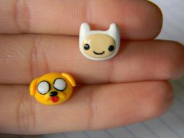Adventure Time Studs-Polymer Clay by ThePetiteShop