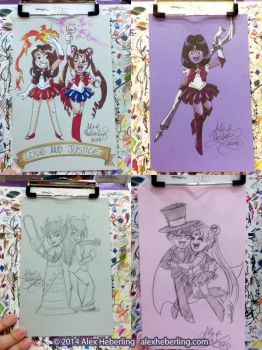 Youmacon 2014 Sketch Cards by alex-heberling