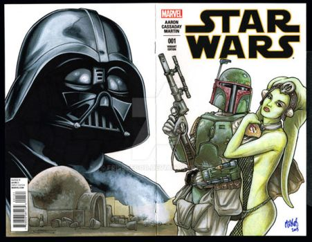 Star Wars sketchcover by Frisbeegod