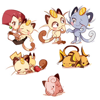 Pokemon Doodles 2 by Ipun