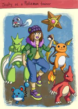 Sushy as a Pokemon trainer by sushy00