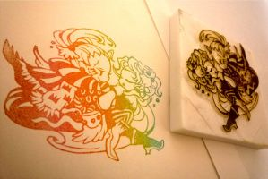ff6 stamp -kefka and terra2- by mukuuji