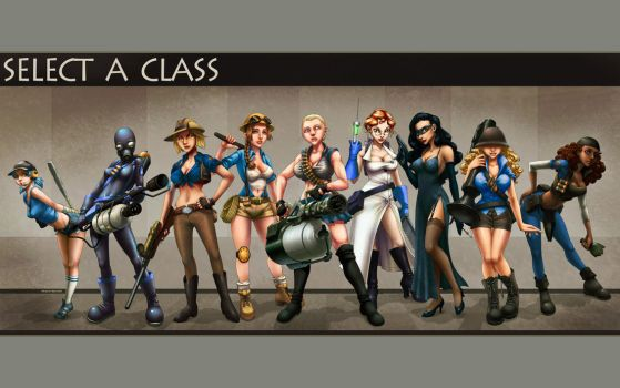 Select A Class... Blu - WP by ghostfire