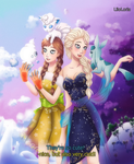 Elsa and Anna knowing new pokefriends by LiloLoria