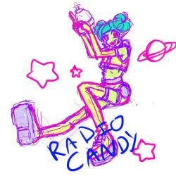 ALIEN SPACE LADY EXTREME sketch by RadioCandy