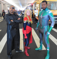 Nick Fury, Captain Marvel and Mar-Vell by R-Legend