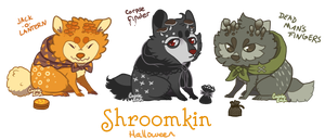Shroomkin Halloween Flatsale [Closed] by Herboreal