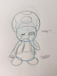 Toad is sad... by Aso-Designer