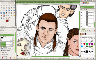 D and D Party WIP Screen Shot by hopebringer-jem