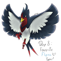 POKEDDEXY challenge - Day 8: Swellow by Zaprong