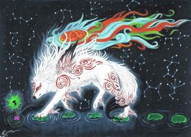 Okami God contest entry by MysticPandaMama