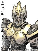 Kamen Rider Blade - pic-sketch by Uky0