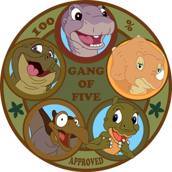 Gang Of Five Approved Sticker by RockingScorpion