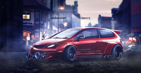 Honda Type R (EP3) Inbound racer V2 RED by yasiddesign