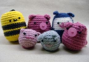 Crochet friends by philippajudith