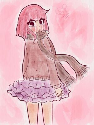 Pink hair cute girl, Meme crying by Hasunecchi