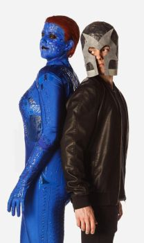Mystique and Magneto 002 by TheBlondeinator