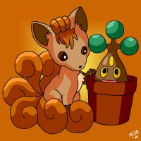 Pokemon - Vulpix and Bonsly
