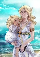 Commission: Cassia and Kyrie by sionra