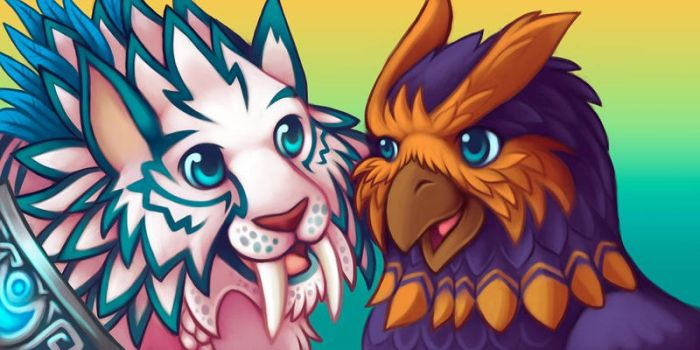 Skyisup + Purrfessor Icon Commission by bawky
