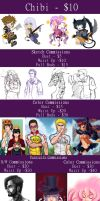 Commission Prices by MidnightZone