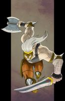 Ares God Of War In Color by blaquejag