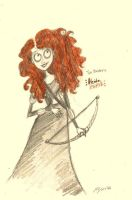 Tim Burton's Merida by xxIgnisxx