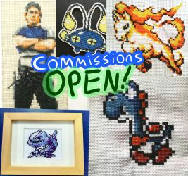 Open for cross stitch sprites commissions! by Gerona-Queen