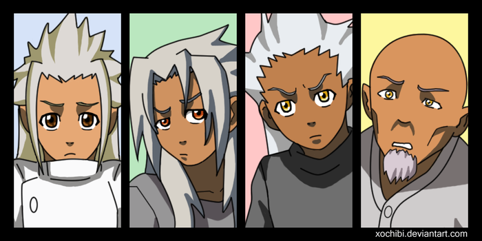 The Xehanorts by xochibi