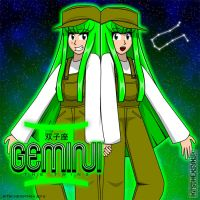 Gemini the Twins by Kitschensyngk