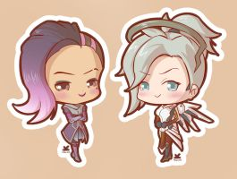 [Commission] Mercy and Sombra Overwatch by Kelsa20