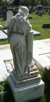Mount Olivet Cemetery Woman 199 by Falln-Stock